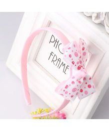 Angel Closet Bubbles Print Bow Applique Hairband - Pink