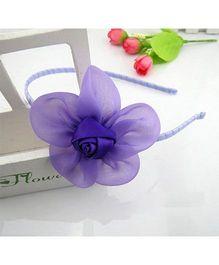 Angel Closet Beautiful Rose Hairband - Purple