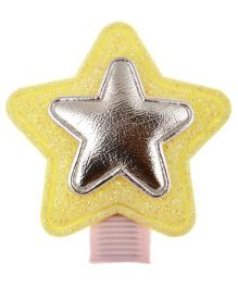 Angel Closet Glitter Star Hair Clip - Yellow