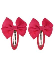 Angel Closet Beautiful Bow Clips Dark Pink  - Pair Of 2