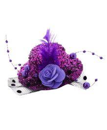 Angel Closet Stylish Hat Clip - Purple