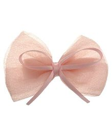 Angel Closet English Bow Clip - Peach