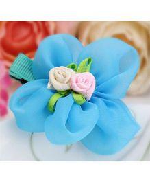 Angel Closet Flower Hair Clip - Blue