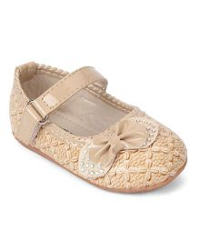 Cute Walk by Babyhug Bellies Stone Embellishment - Apricot