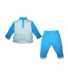 FS Mini Klub T-Shirt And Pant Set - White And Blue