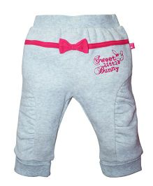 FS Mini Klub Winter Wear Bottoms Bow Applique - Grey