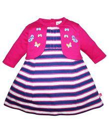 FS Mini Klub Girls DRESS PINK 9-12M 100%COTTON