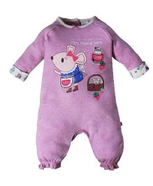 FS Mini Klub  Full Sleeves Romper Mouse Print - Pink