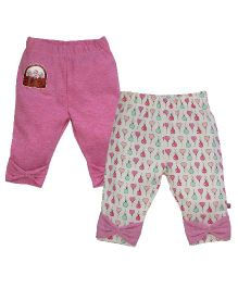 FS Mini Klub Leggings Pack of 2 - Pink & White