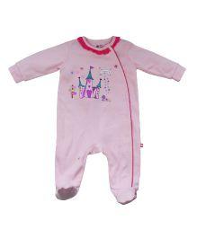 FS Mini Klub Footed Sleepsuit Castle Print - Pink
