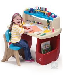 Step2 Deluxe Art Master Desk - Multi Color