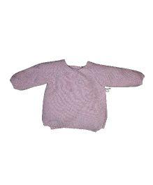 FS Mini Klub Full Sleeves Wrap Sweater - Pink