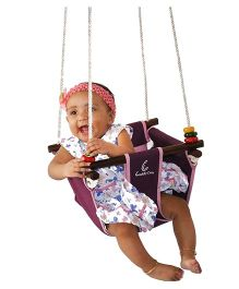 CuddlyCoo Baby And Toddler Swing - Violet