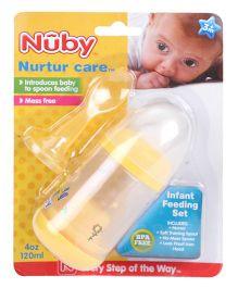 Nuby Green Nurtur Care Infant Feeding Set Yellow - 120 ml