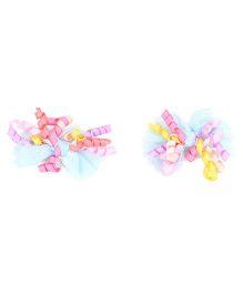 NeedyBee Bow Hair Clips - Blue