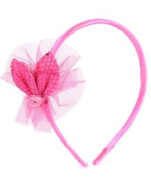 NeedyBee Flower Bow Baby Girl Hair Band - Pink