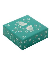 The Crazy Me Birds Wooden Jewellery Box - Mint