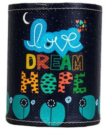 The Crazy Me Love Dream Hope Pen Stand - Black