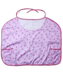 Owen Nursing Bib With Heart Print - Pink