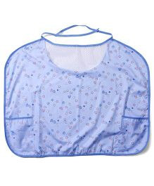 Owen Nursing Bib With Alphabet Print - Blue