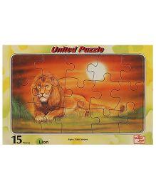 United Toys Lion Puzzle Multicolor - 15 Pieces