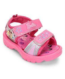 Barbie Printed Sandals - Pink And Grey