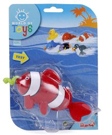 Simba World Of Toys Pull String Sea Animal - Red