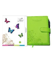 Tiara Diaries Pregnancy and Baby Journal Cum Planner - Green