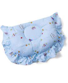 Owen Semi Circular Shape Multi Print Pillow - Blue