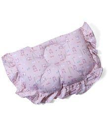 Owen Semi Circular Shape Printed Pillow - Light Pink