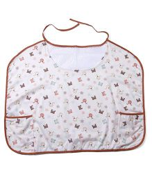 Owen Nursing Bib With Multi Print - Light Peach