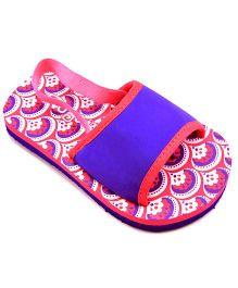 Pugs Flapper Sandal For Your Little Shoeaholic - Dark Pink & Purple