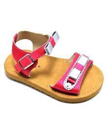 Pugs Little Maya Two Bow Sandal - Pink & Gold
