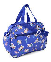 Little's Mama Bag Rabbit Print - Blue