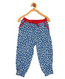 My Lil Berry Full Length Printed Pajama - Blue
