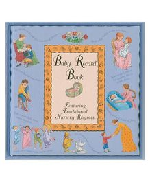 Baby Record Book Blue - English