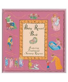 Baby Record Book Pink - English
