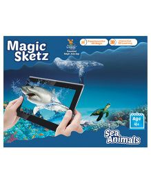 Augment Works Magic Sketz Sea Animals 3D Colouring Book