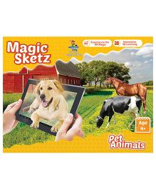 3D Coloring Book Magic Sketz - Pet Animals Activity Book By Augment Works