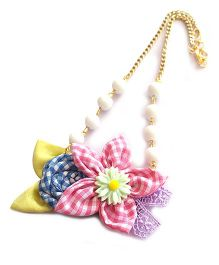 Soulfulsaai Floral Bead Necklace - White