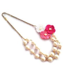 Soulfulsaai Pearl Crochet Necklace - Pink