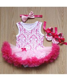 Tickles 4 U Baby Onesie Style Dress - Pink