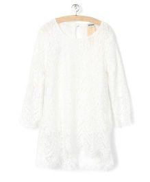 Whitehenz ClothingCute Lace Full Sleeves Tunic - White