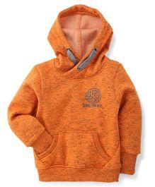 Little Kangaroos Full Sleeves Hooded Sweatshirt - Orange