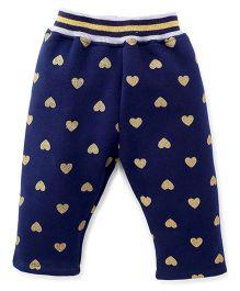 Little Kangaroos Full Length Leggings Heart Design - Blue