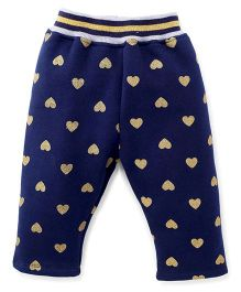Little Kangaroos Full Length Leggings Heart Design - Blue