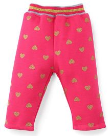 Little Kangaroos Full Length Leggings Heart Design - Pink