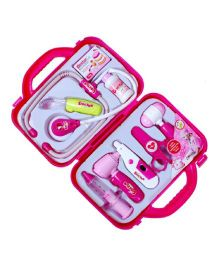 Emob Doctor Play Set Light And Sound Effects With Case - Pink