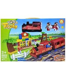 Emob Big Size Train With Flashing Light And Music Multicolor - 47 Pieces