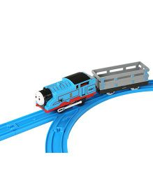 Emob Electric Toy Train With Track Set - Blue